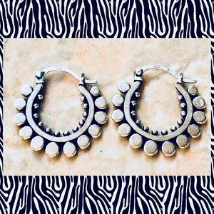 Jewelry - Sterling Silver Boho Dot Hoops Earrings